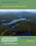 Adirondack Park Agency 2013 Annual Report front cover