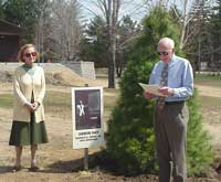 Mrs. Jerry and Chairman Ross Whaley, Arbor Day 2004