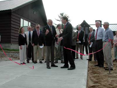 Chairman Whaley and Executive Director Daniel Fitts cut ribbon