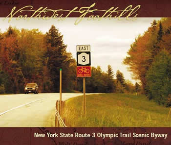 Northwest Foothills Guide - autumn scene along New York State Route 3