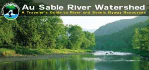 Au Sable River Watershed Guide - summer view of river