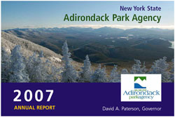 Adirondack Park Agency 2007 Annual Report front cover