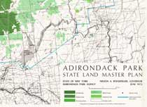 Adirondack Park Land Use and Development Plan Map and State Land Map