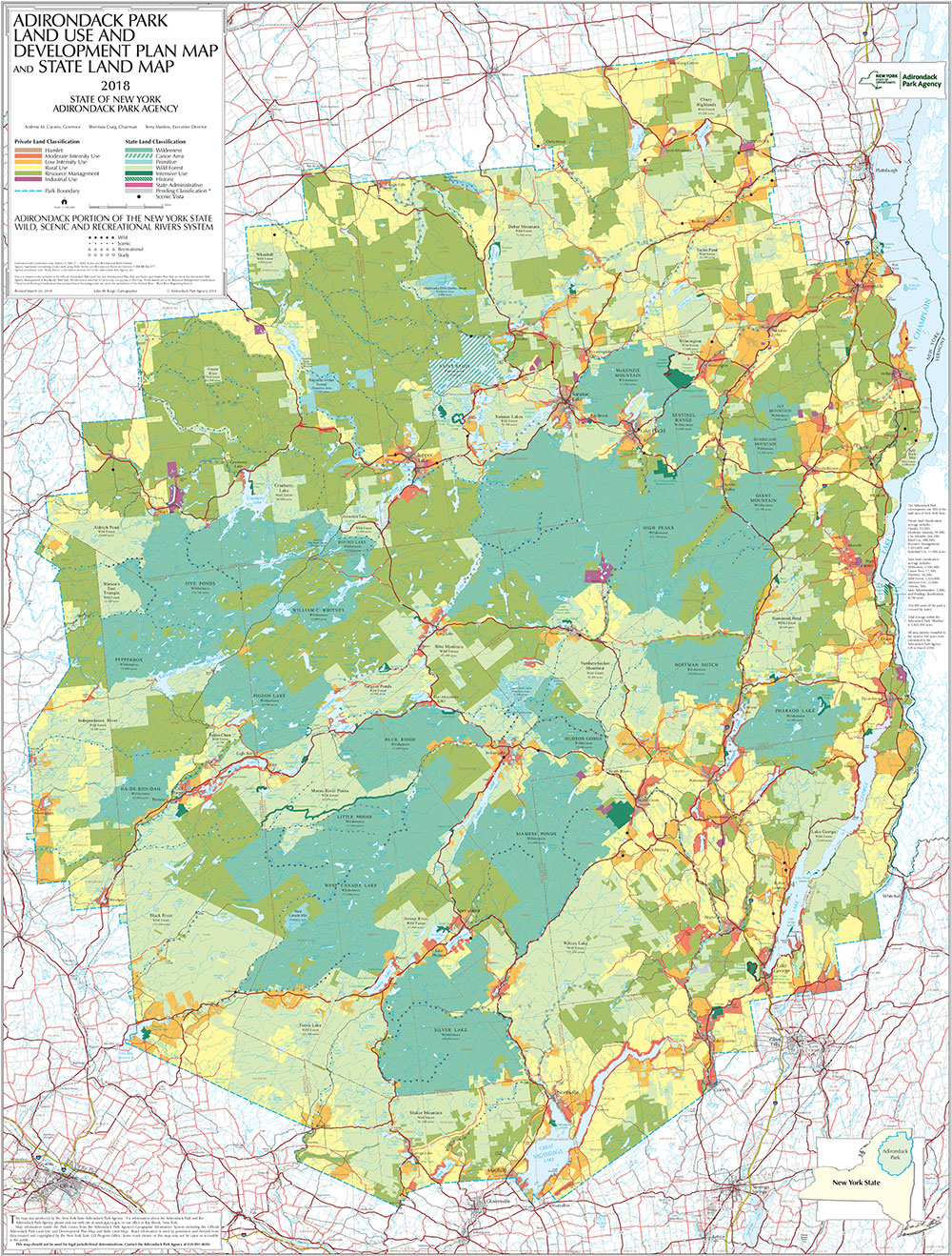 Map Of Adirondacks Adirondack Park Agency Maps and GIS