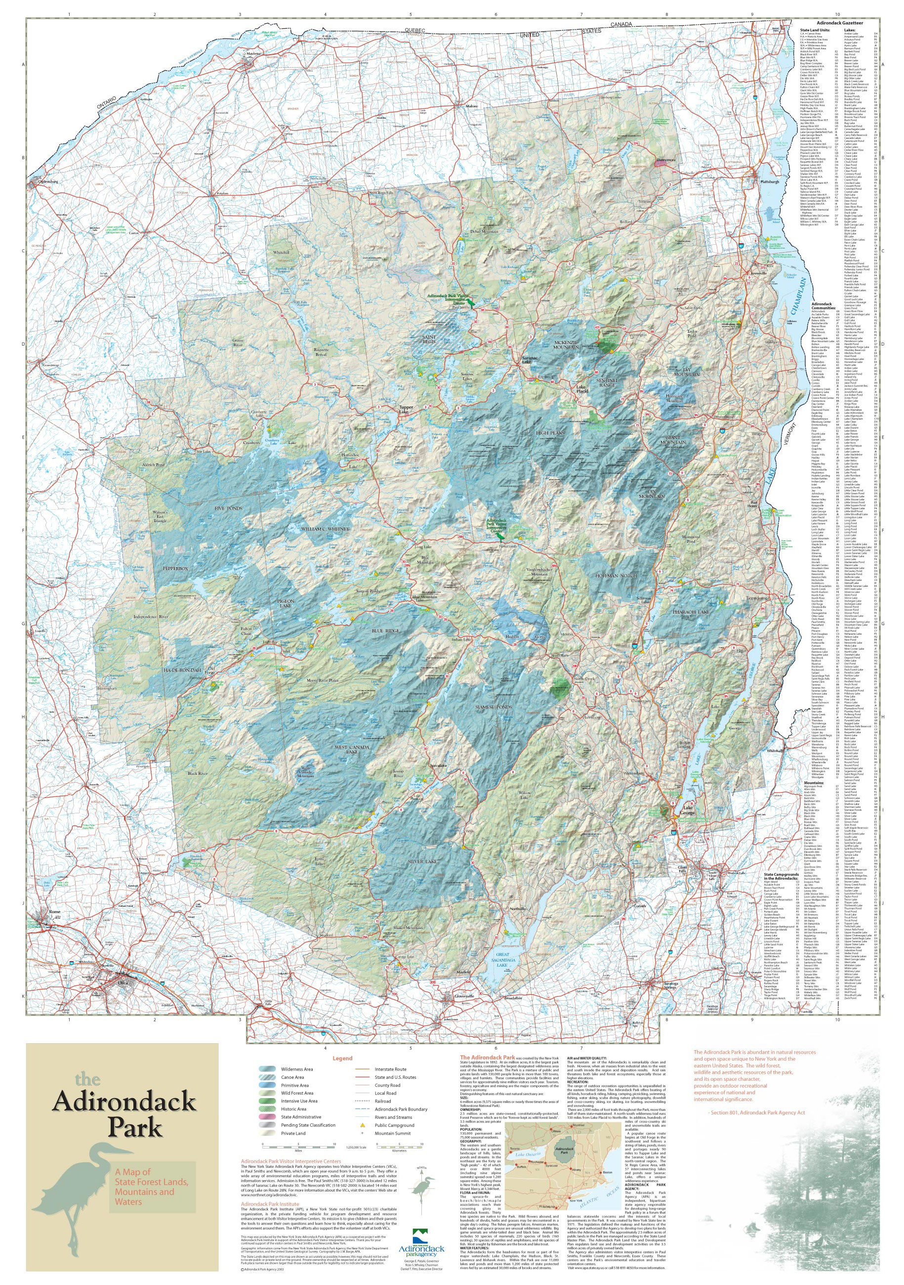 Adirondack Park Agency Maps and GIS on
